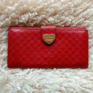 💯Auth Gucci micro GG long leather wallet